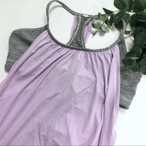Lululemon No Limits Tank Lilac Purple Striped Bra
